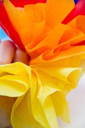 Tejido de bricolaje del papel del partido del arco iris Gorra