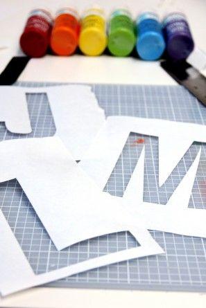 Bricolaje monogramas con Congelador Plantillas