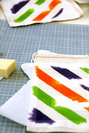 Arco iris de la raya del favor de DIY Bolsas