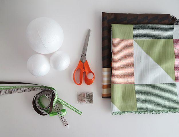 Fotografía - Tela Scrap DIY cubierto de espuma de poliestireno bolas