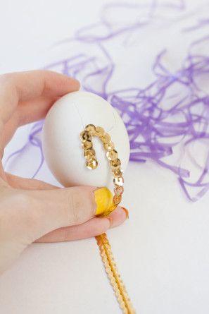 Lentejuela Carta Huevos de Pascua