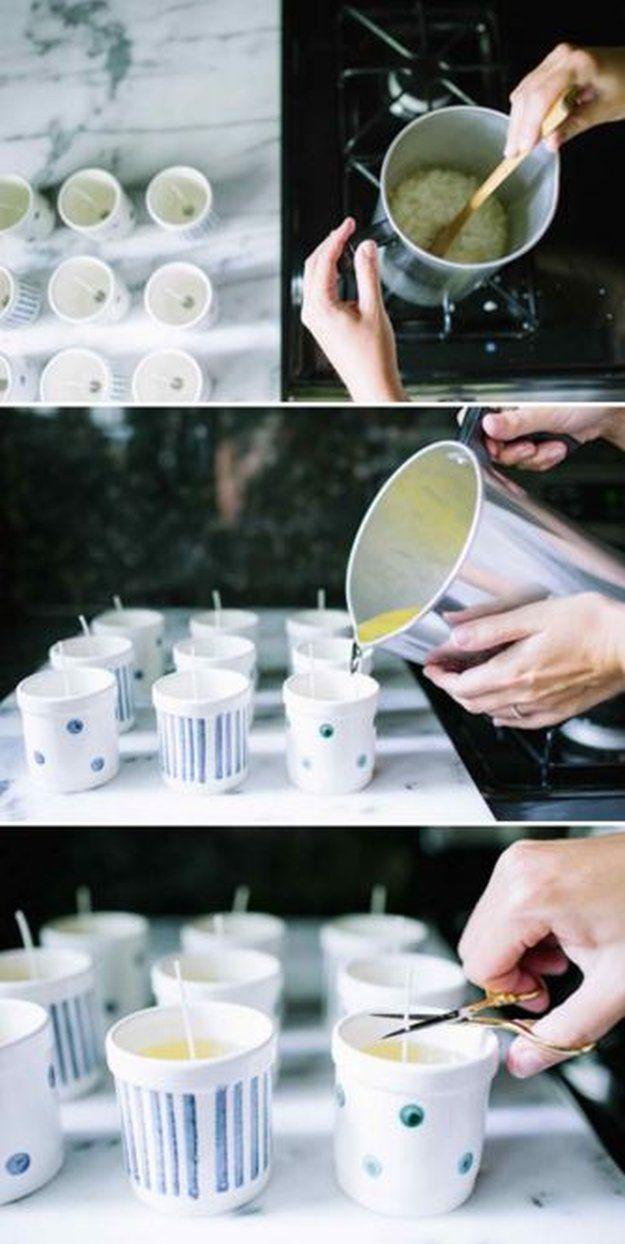 DIY coco Vela Perfumada | 10 DIY soja Velas Usted amará, ver más a http://artesaniasdebricolaje.ru/diy-soy-candles-10-addictive-scents-you-will-love