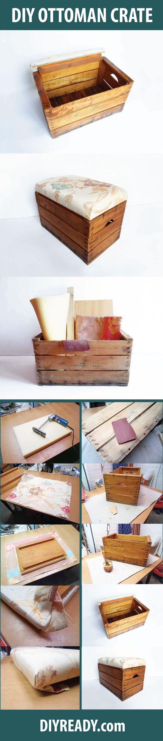 Fotografía - DIY Otomana de almacenamiento | Encienda una caja de madera de la vendimia En un Otomano Almacenamiento