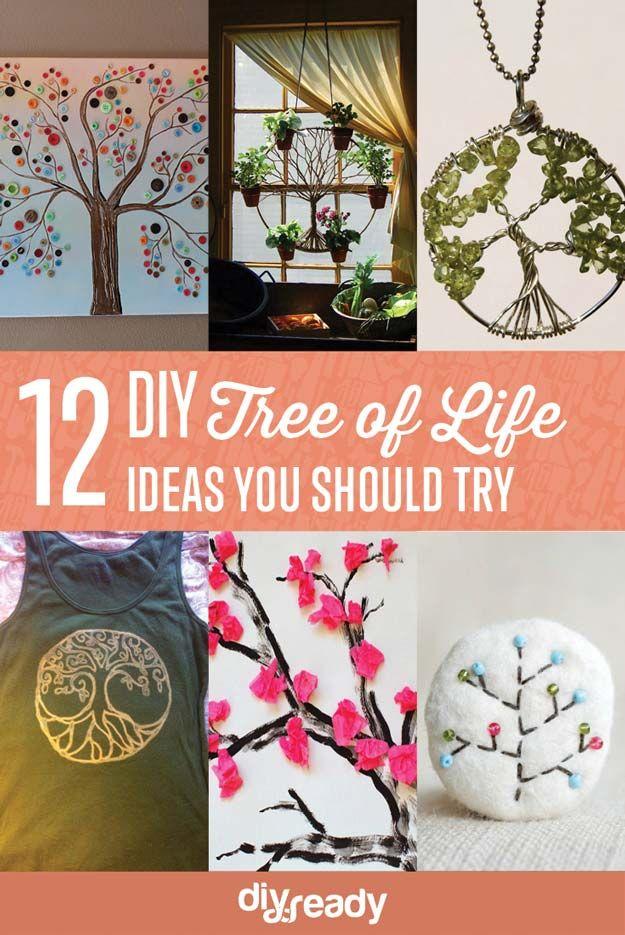 12 DIY Árbol de la Vida Ideas | http://artesaniasdebricolaje.ru/12-diy-tree-of-life-ideas/