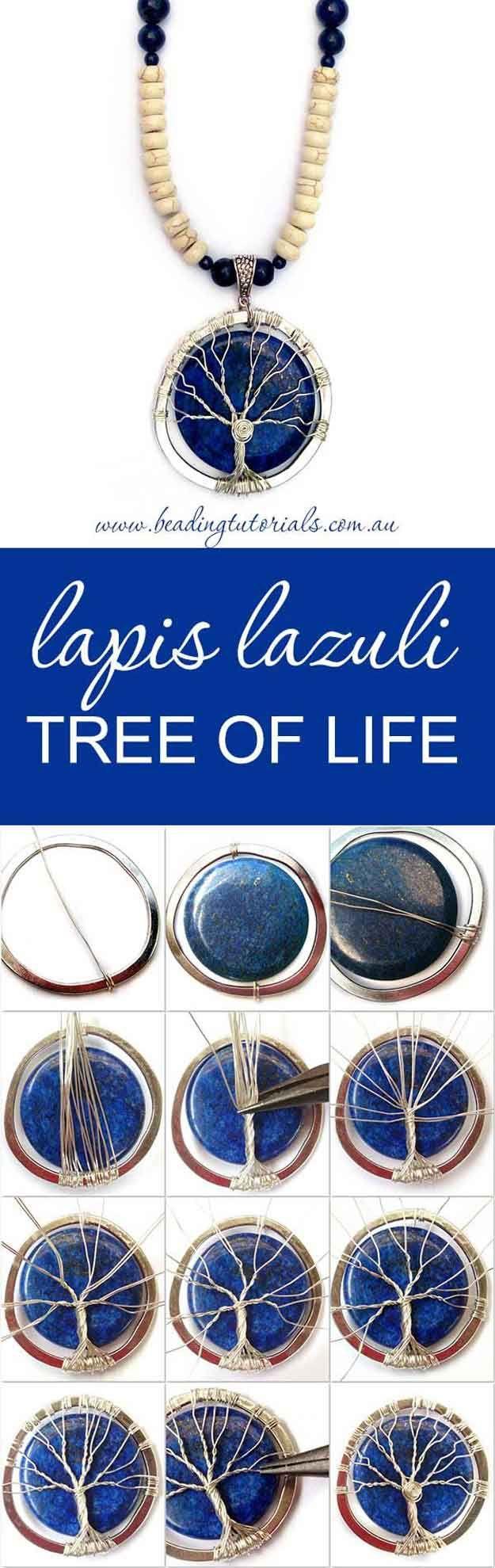 Diversión DIY Árbol de la Vida Collar Tutoriales | http://artesaniasdebricolaje.ru/12-diy-tree-of-life-ideas/