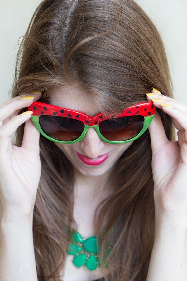 Bricolaje sandía Gafas de sol