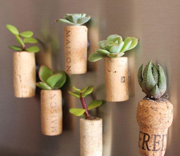 Proyectos DIY Uso de corchos de botellas de vino 12
