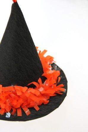 Cómo hacer un mini sombrero de la bruja Piñata