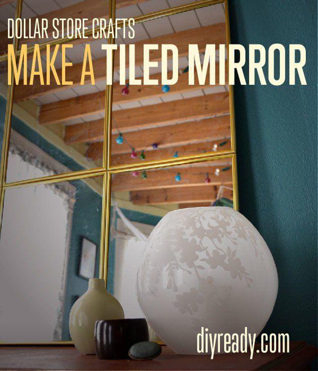 Fotografía - Dollar Store Crafts | ¿Cómo hacer un espejo de baldosa