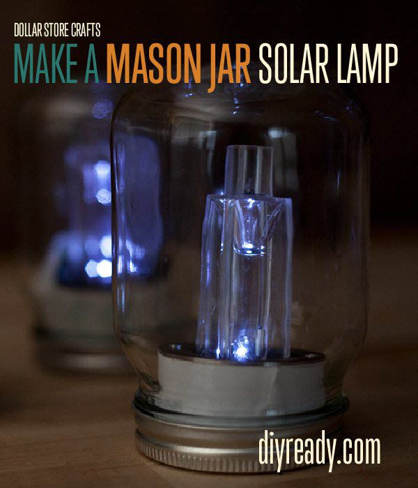 Fotografía - Dollar Store Crafts | Cómo hacer Mason Jar luces solares
