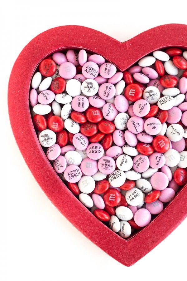 Custom M & Ms para San Valentín's Day