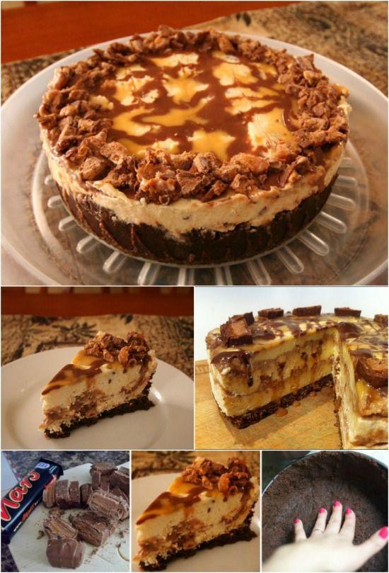 Fácil y delicioso No-Bake Mars Bar queso {deliciosa receta}