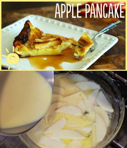 Fácil receta deliciosa: Apple abultada Crepe, perfecto para el desayuno o postre ...