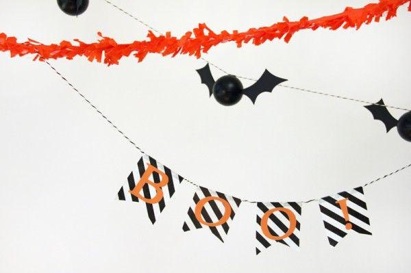 DIY abucheo de Halloween Banner