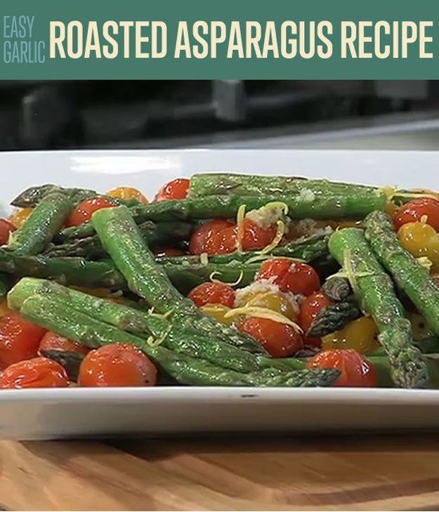 Fácil Ajo Asado Espárragos Receta | http://artesaniasdebricolaje.ru/easy-garlic-roasted-asparagus-recipe-how-to-roast-asparagus/