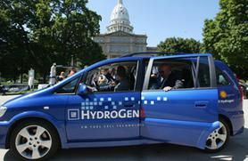 coche de pila de combustible de hidrógeno foto