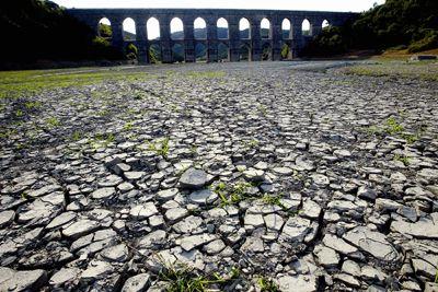 Lago seco en Turquía