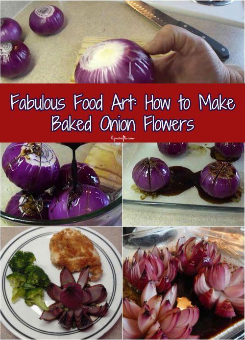 Fabulous Food Art: Cómo hacer al horno cebolla Flores