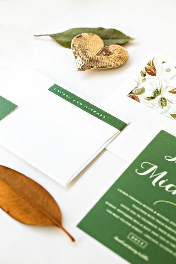 Invitaciones de boda Caída + Free para imprimir Sobre Liner