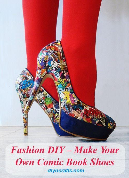 DIY Moda - Haga su propio cómic Zapatos