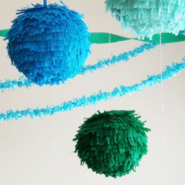 DIY Fringe linterna Piñata