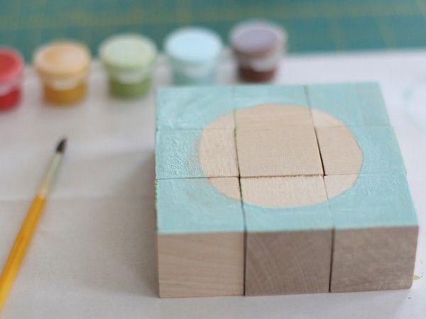 DIY Bloque de Madera Puzzle