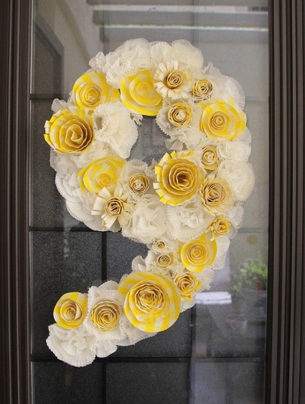 papel de flores corona de flores