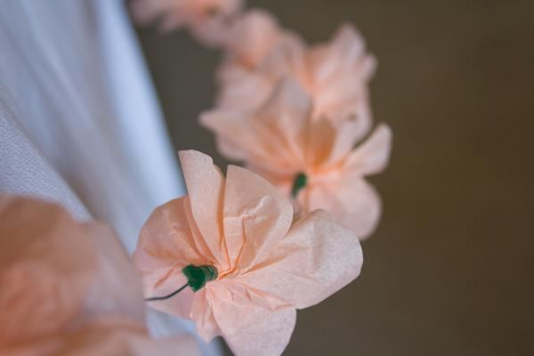 papel de flores guirnalda