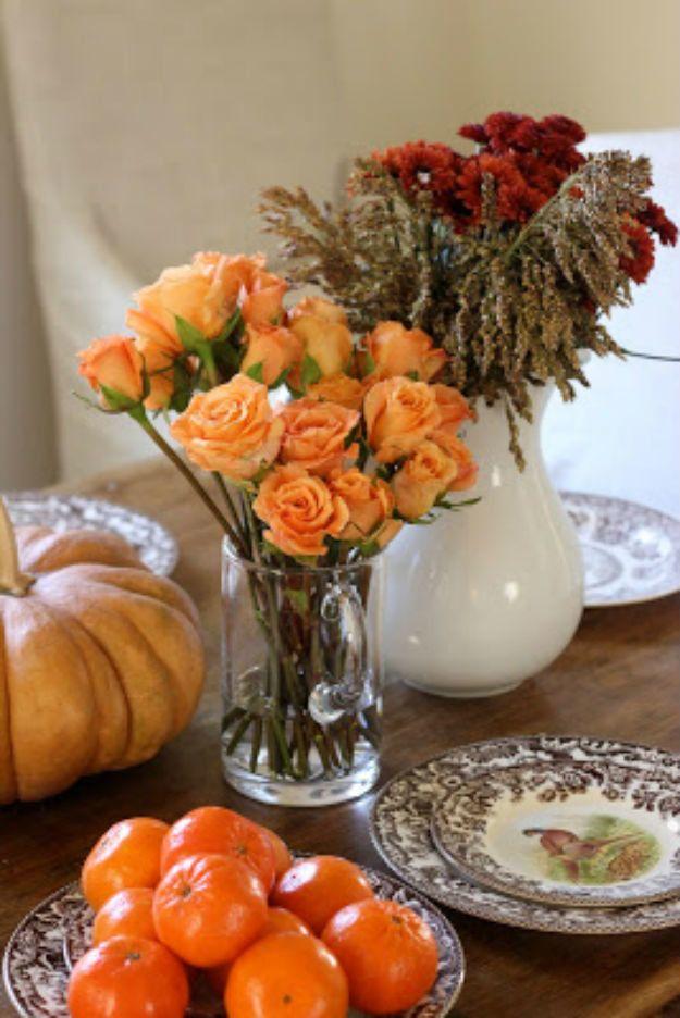 Calabaza Florero floral | Acción de Gracias Ideas pieza central