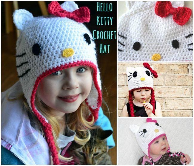 GRATIS patrón de ganchillo: Gorgeous Hello Kitty Sombrero