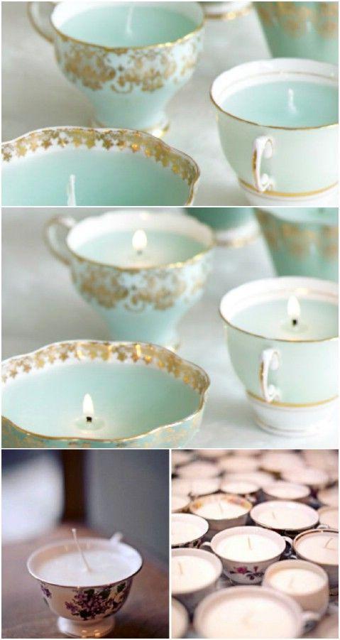 Taza de té Velas