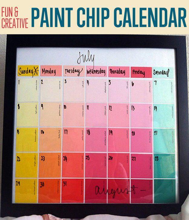 Fotografía - Diversión y creativo de pintura bricolaje chip Calendario