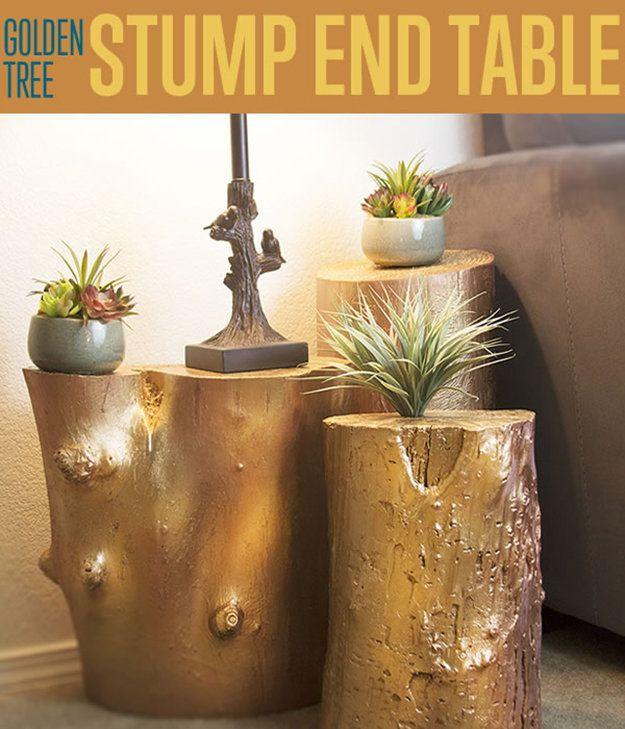 Fotografía - Stump Golden Tree Mesa auxiliar | Cómo construir una tabla