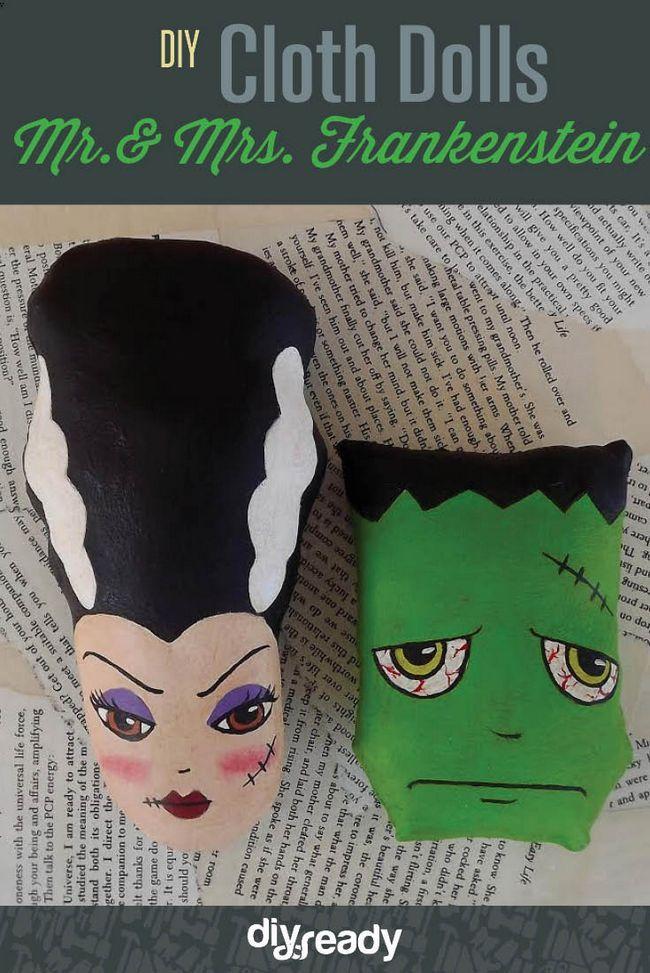 Fotografía - Artes y Oficios de Halloween | DIY Mr. & Mrs. Frankenstein Cloth Muñecas