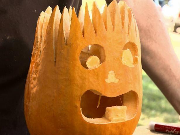 Fotografía - De Halloween que talla la calabaza: jack electro o del enchufe