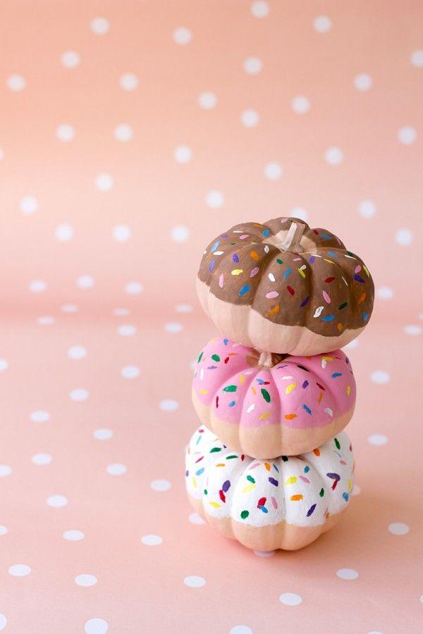 Bricolaje Donut Pumpkins