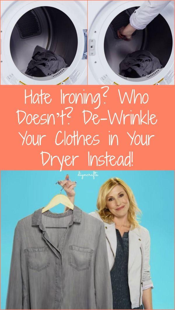 Odio planchado? ¿Quién no? De-arrugar su ropa en la secadora lugar!