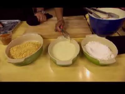Emeril verdes Recetas: Horno Fried Chicken