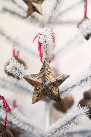 Periódico de Navidad Estrella Adornos Tuck y Bonte