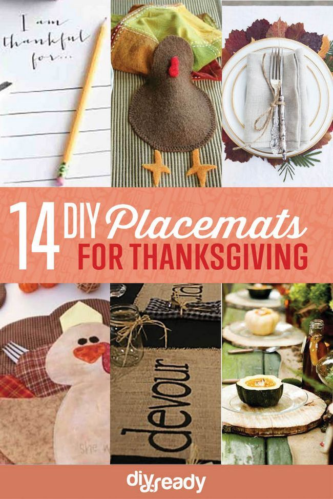 14 Manteles DIY para Acción de Gracias, échale un vistazo a http://artesaniasdebricolaje.ru/homemade-thanksgiving-decorations-14-diy-placemat-ideas