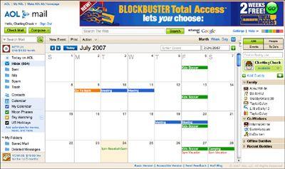 Calendario de AOL