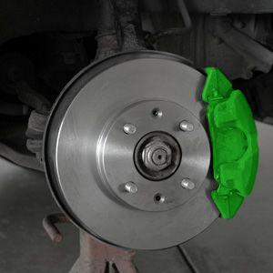 coches del sistema de frenos con calipher y el freno almohadilla resaltados.