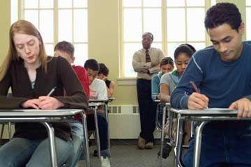 Los estudiantes que toman la prueba