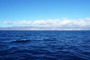 Océano y cielo