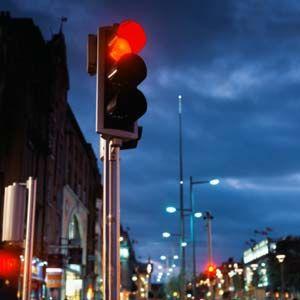 una luz roja