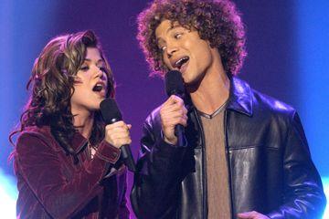 Justin Guarini y Kelly Clarkson de American Idol