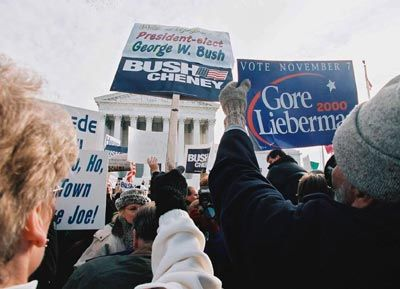 manifestantes en corriente continua, elecciones 2000