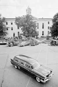 William Faulkner's hearse in 1962