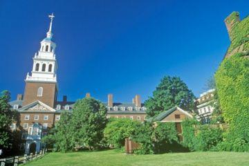 El campus de la Universidad de Harvard en Cambridge, Massachusetts.