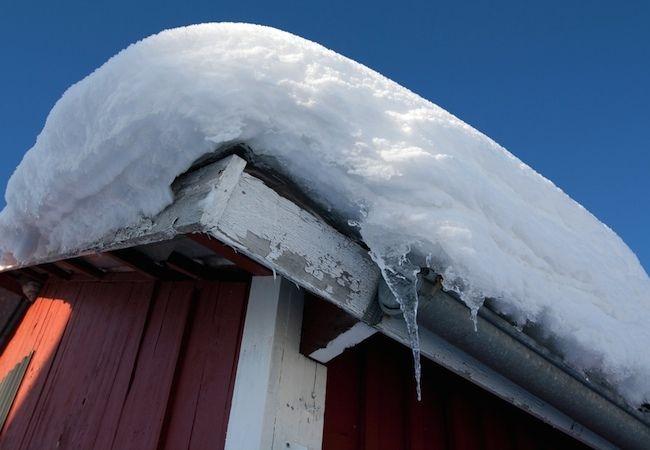 Fotografía - ¿Cuánto nieve puede sostener un tejado?